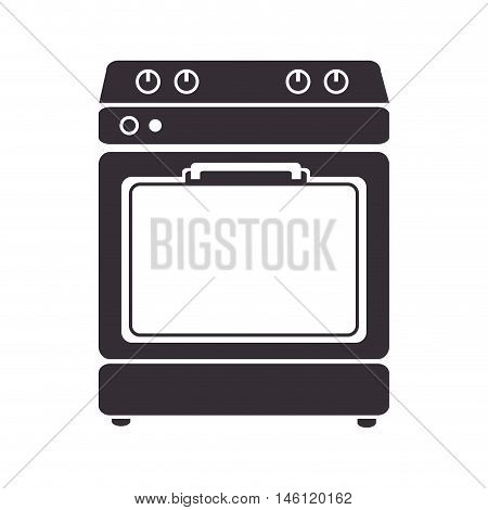 home kitchen stove. electric domestic machine. vector illustration