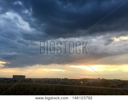 Stormclouds And Sunset