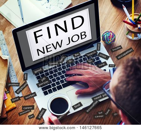 FInd New Job Applicant Hiring Employment Concept