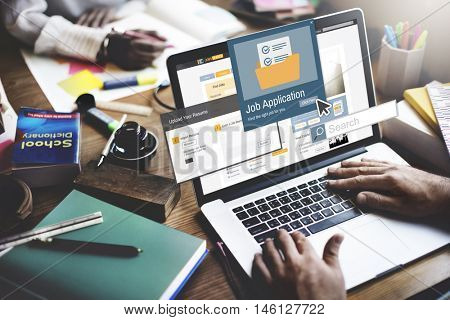 Job Application Apply Hiring Human Resources Concept