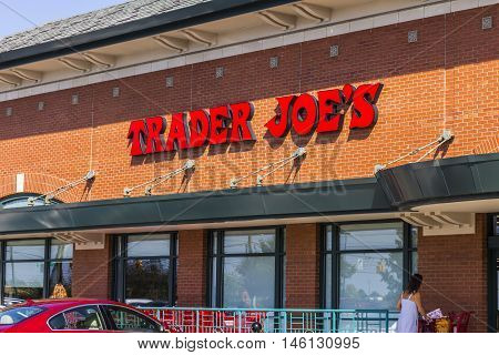 Indianapolis - Circa September 2016: Trader Joe's Retail Strip Mall Location. Trader Joe's is a chain of specialty grocery stores in the U.S. II