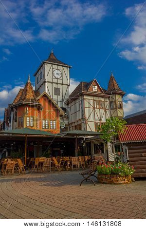 BLUMENAU, BRAZIL - MAY 10, 2016: it is a city in the south of brazil founded in 1850 and it has a lot of german decendents.