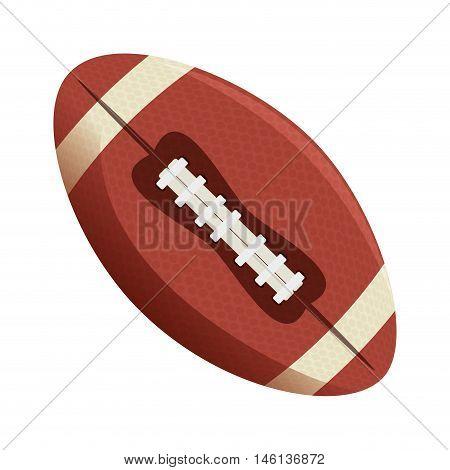 sport oval ball american football. game equipment. vector illustration