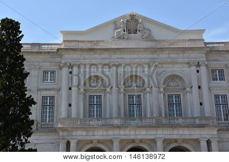 Palace of Ajuda in Lisbon, Portugal, in Europe