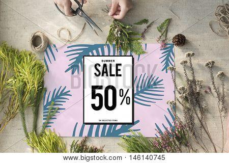 Sale Discount Shopping Shopaholics Promotion Concept