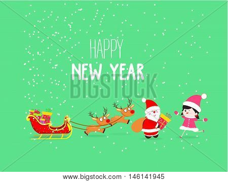 Merry Christmas and New Year Card Background