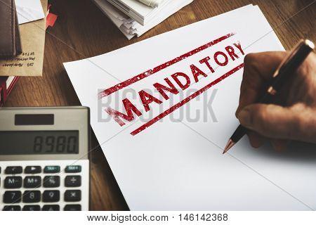 Mandatory Necessary Imperative Requisite Concept