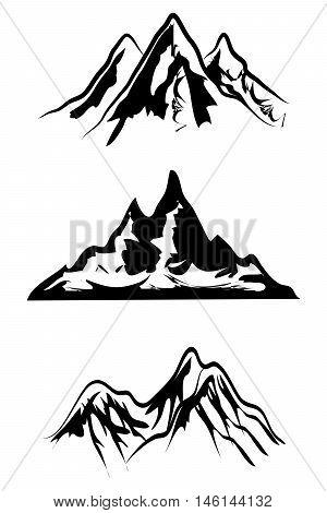 Mountain ranges season natural ranges silhouette hills