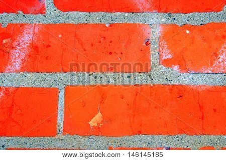 Solid brick wall patterns displayed outdoors at a construction site.