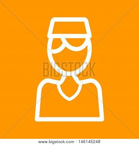 Muslim, man, praying icon vector image. Can also be used for islamic. Suitable for mobile apps, web apps and print media.