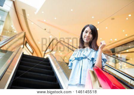 Asian woman go shopping
