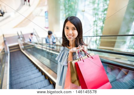 Young woman go shopping