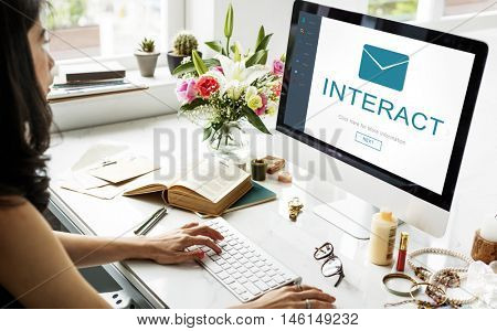 Interact Messaging Contact Envelope Online Concept