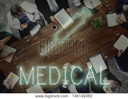 Medical Team Discussion Diagnose Disease Concept