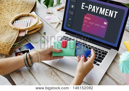 Debit Card Payment Account Graphic Concept