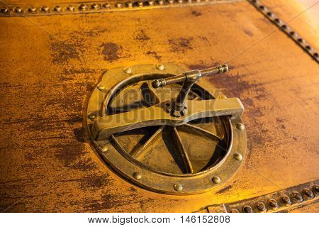 industry concept - close up of vintage manhole