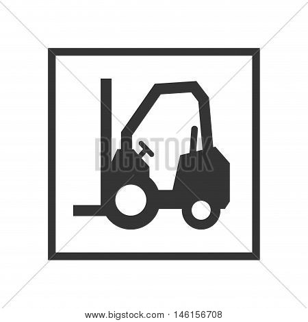 lift truck sign. lifting and cargo service. vector illustration