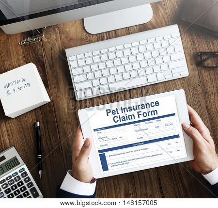 Pet Insurance Claim Document Form Concept