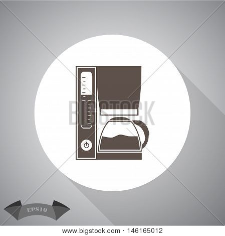 Coffee maker  Vector icon for web and mobile