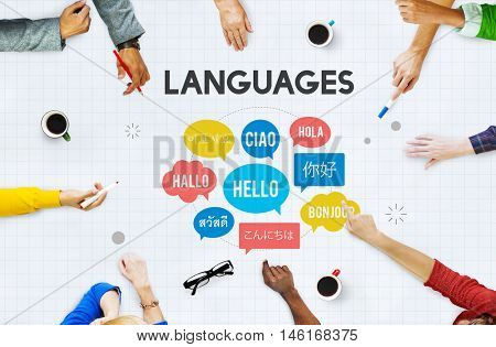 Multilingual Greetings Languages Concept