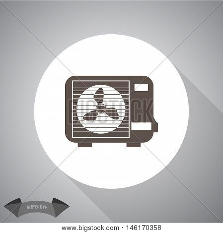 Air conditioner  Vector icon for web and mobile