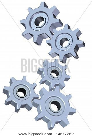 3d Cogwheel illustration
