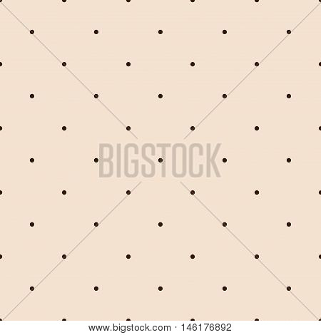Orange Seamless Pattern with Brown Polka Dots. Vector illustration vintage and retro theme. Traditional texture.