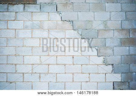 irregular and brake cement brick wall for background