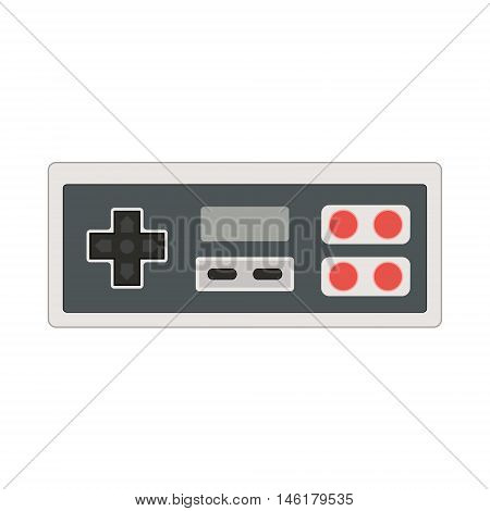 Vector Joystick Icon Illustration. Geek Gaming Retro Gadget From The Nineties. Old Game Entertainmen