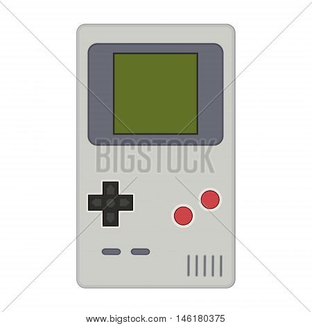 Gamepad Vector Illustration. Geek Gaming Retro Gadgets From The Nineties. Old Game Entertainment Dev