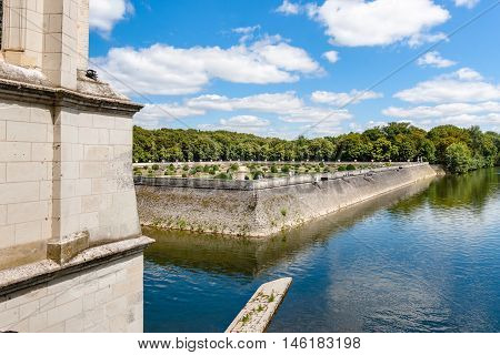 View from inside of Chateau de Chenonceau Loire Valley France
