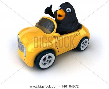 Blackbird - 3D Illustration