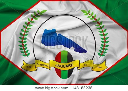 Waving Flag Of Jaguare, Espirito Santo State, Brazil