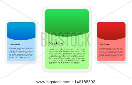 Design Elements with Place for Your Text in Three Color Variants. Isolated vector illustration in three variants to choose.