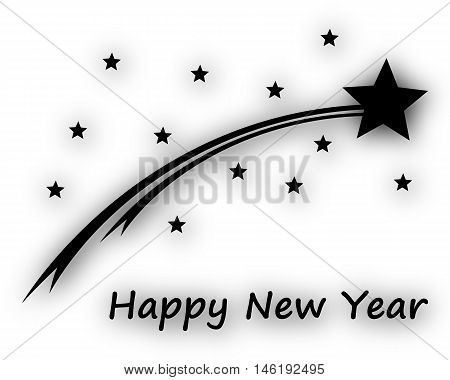 Happy New Year On White