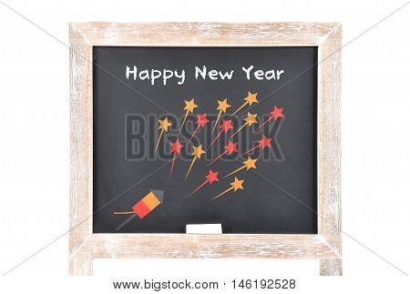 Happy New Year On Blackboard