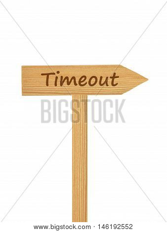 Wooden Direction Arrow On Timber Needle