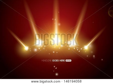 Vector of abstract burst of light and background