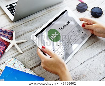 Digital Translate Application Online Concept