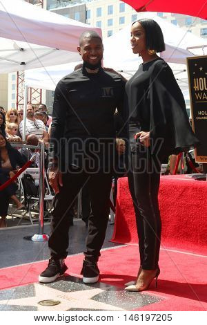 LOS ANGELES - SEP 7:  Usher Raymond, Kelly Rowland at the Usher Honored With a Star On The Hollywood Walk Of Fame at the Eastown on September 7, 2016 in Los Angeles, CA