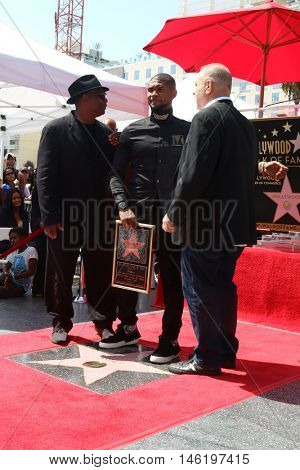 LOS ANGELES - SEP 7:  Terry Lewis, aka Jimmy Jam, Usher Raymond, Harvey Weinstein at the Usher Honored With a Star On The Hollywood Walk Of Fame at the Eastown on September 7, 2016 in Los Angeles, CA