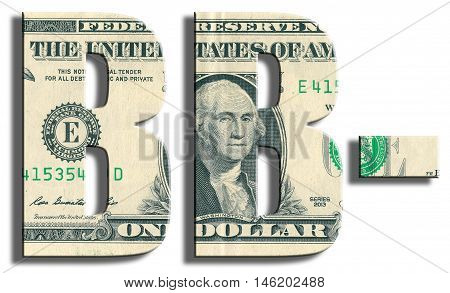 Bb- Credit Rating. Us Dollar Texture.