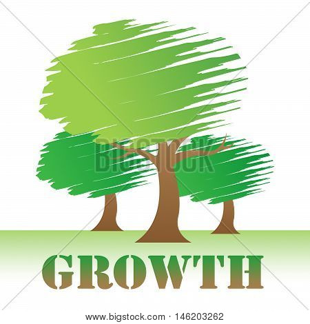 Growth Trees Means Natural Improvement Or Reforestation