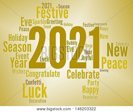 Two Thousand Twenty One Or 2021 New Year