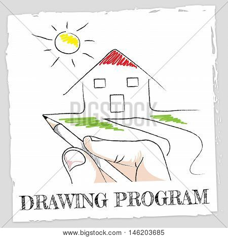 Drawing Program Represents Software Programs And Applications