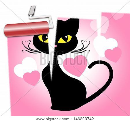 Cat Love Indicates Feline Devotion And Passion