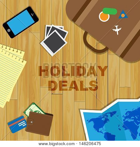 Holiday Deals Represents Vacation Promo Or Offer