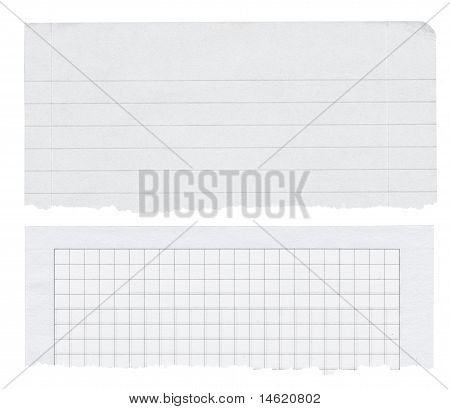 Two Paper Banners Isolated On White