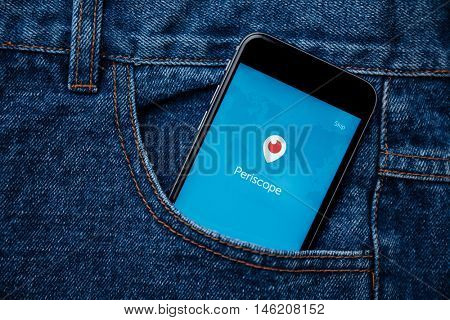 KUALA LUMPUR, MALAYSIA - MAY 19TH, 2016: Periscope Mobile App. Periscope is a live video streaming app for iOS and Android