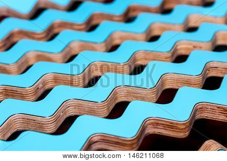 Abstract background. Colorful wooden interior zigzagr lines